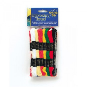 Embroidery Thread - 20 Colours