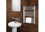 Straight Towel Rail - 400 X 800mm Chrome