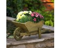 Woodland Wheelbarrow Planter Rustic Tan