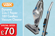 Dynamo2in1 Power Cordless Vacuum Cleaner 18V – Now Only £70.00
