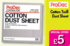 Cotton Twill Dust Sheet 12 x 9 (3.6m x 2.7m) – Now Only £5.00