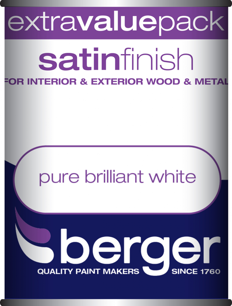 1.25 Litre Satin Sheen - Pure Brilliant White – Now Only £10.00