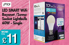 LED SMART WiFi Screw Socket Lightbulb 60W - Single – Now Only £11.00