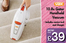 10.8v Gator Handheld Vacuum – Now Only £39.00